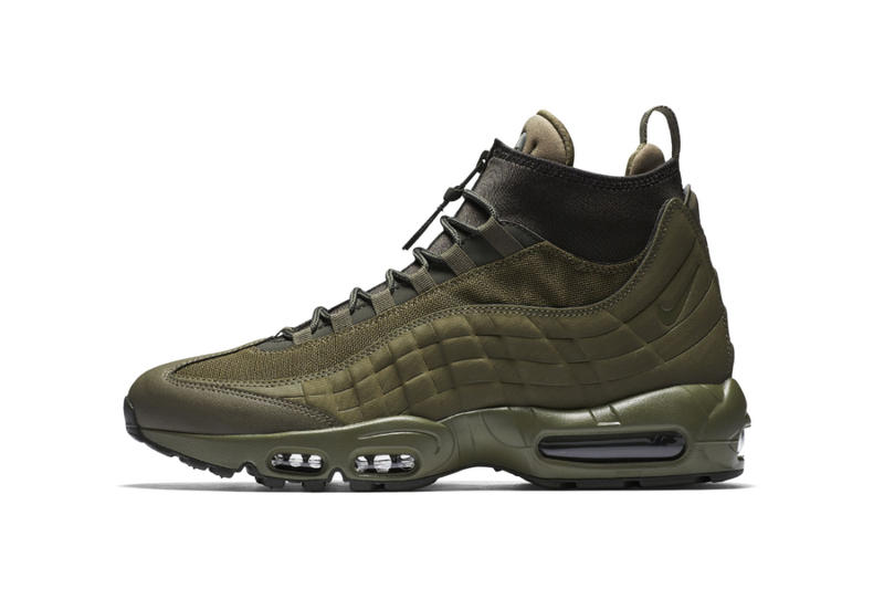 sports shoes c7ba3 ea0ba Nike Air Max 95 Sneakerboot Olive Green 2017 Fall Release Date Info  Sneakers Shoes Footwear