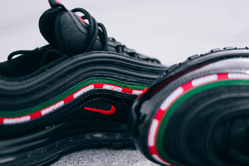 UNDEFEATED UNDFTD Nike Air Max 97 Collaboration Sneaker Black On Feet Release Date Info Drops September 21