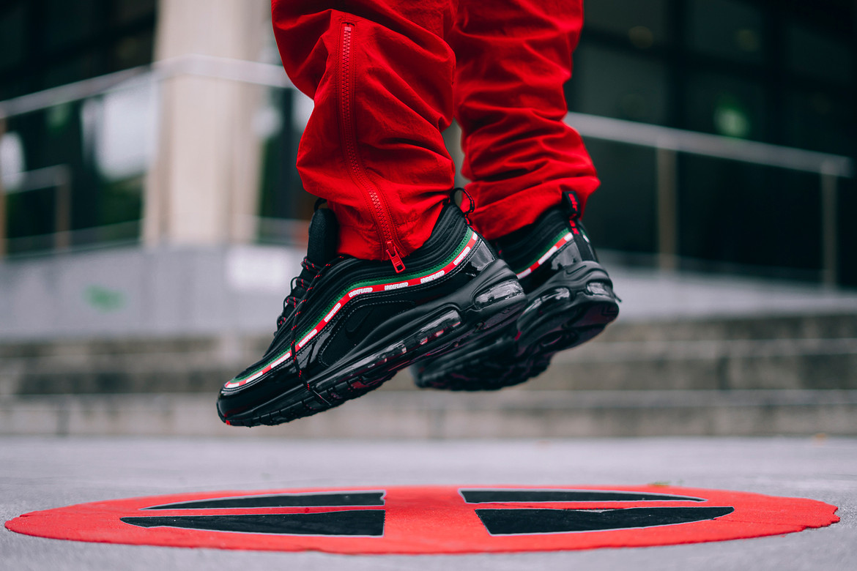 Undefeated X Nike Air Max 97 Black On Feet Hypebeast