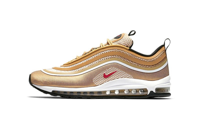 Nike Air Max 97 Ultra Metallic Gold OG Original Colorway Sneakers Shoes Footwear 2017 Fall Release Date Info