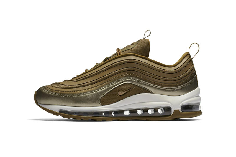 newest collection ecf24 10fc0 Nike Air Max 97 Ultra Metallic Gold Burgundy 2017 Fall Release Date Info  Sneakers Shoes Footwear