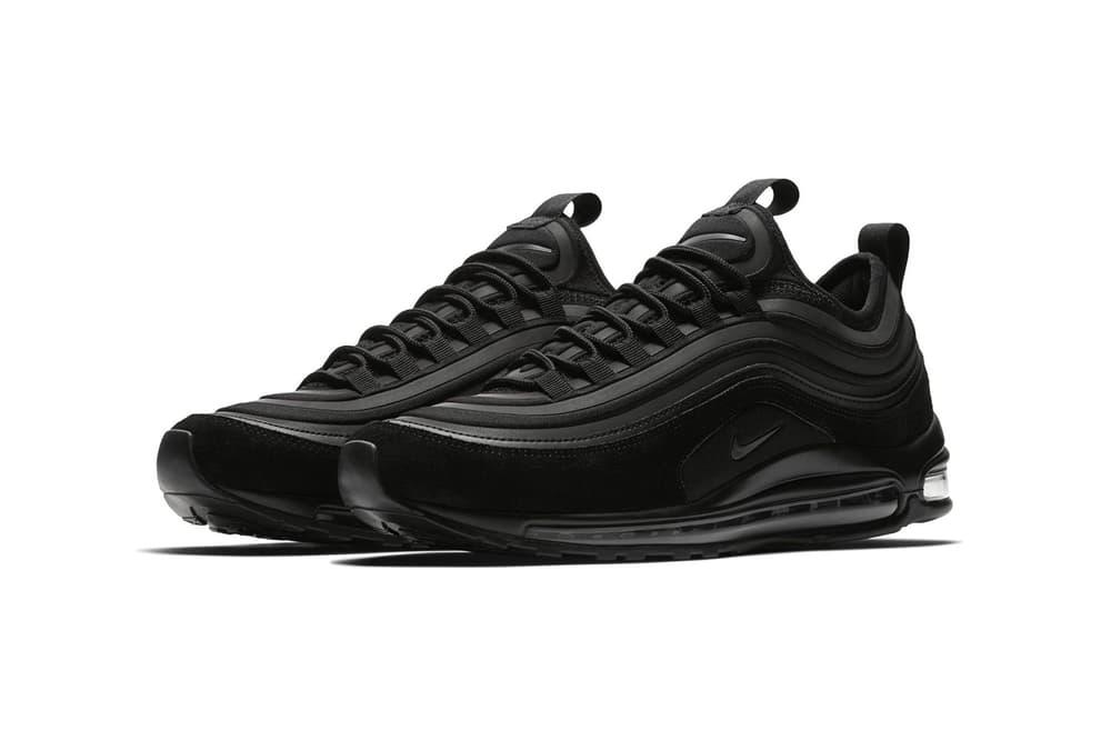 Nike Air Max 97 Ultra SE Triple Black All Sneakers Shoes Footwear 2017 Release Info Drops