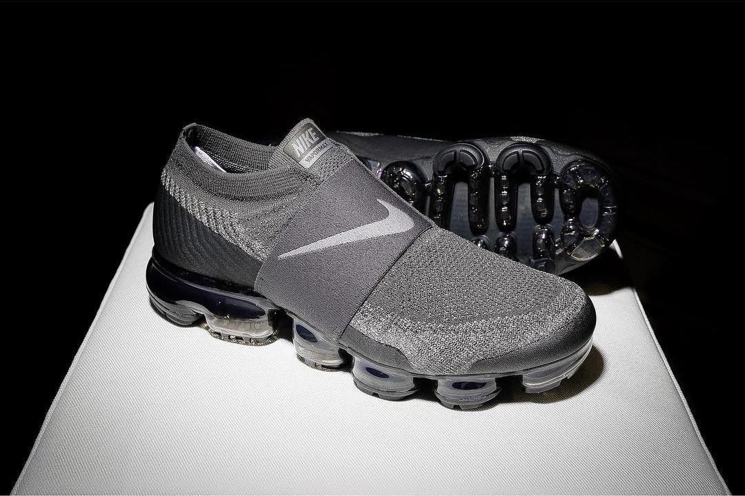 Nike Air VaporMax Laceless Grey \u0026 Black