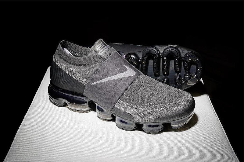 d75091793e268 Nike Air VaporMax Laceless Grey   Black