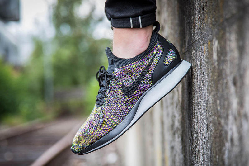 Nike Air Zoom Mariah Flyknit Racer Multicolor 2 0 footwear purple yellow green running Release Date Info