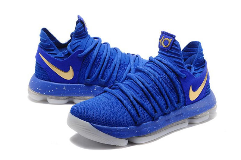 "quality design f967a 42007 Nike Honors Kevin Durant s Finals Performance With Special KD 10 PE Release.  ""Royal Blue"" and gold."