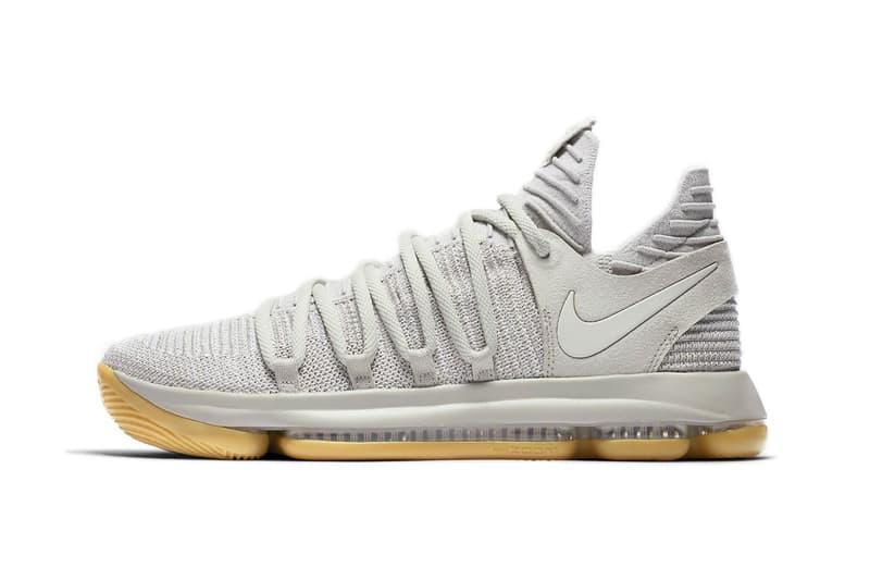 Nike KD Kevin Durant 10 Light Grey Bone Gum Sole
