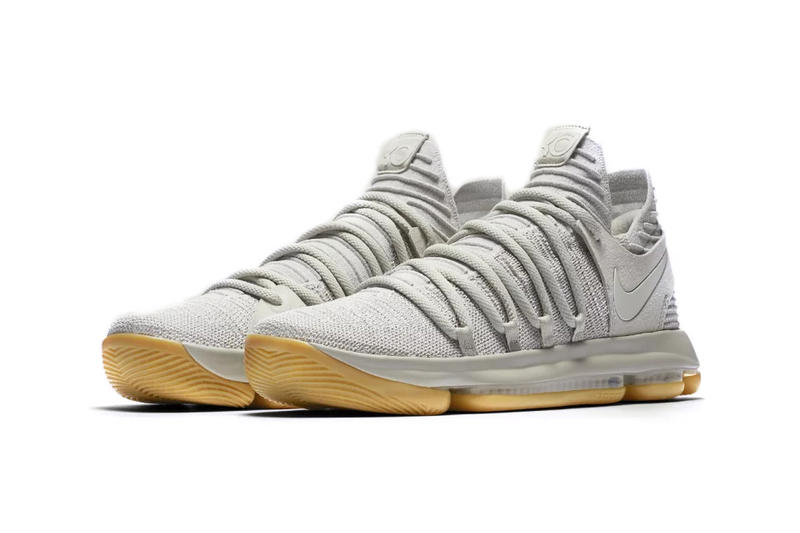 Nike KD Kevin Durant 10 Light Grey Bone Gum Sole