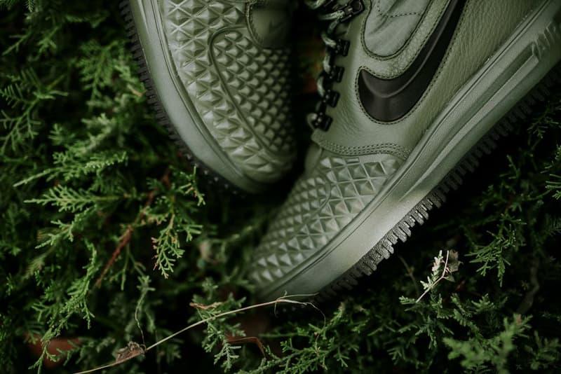 Nike Lunar Force 1 Duckboot Medium Olive Dark Green Colorway