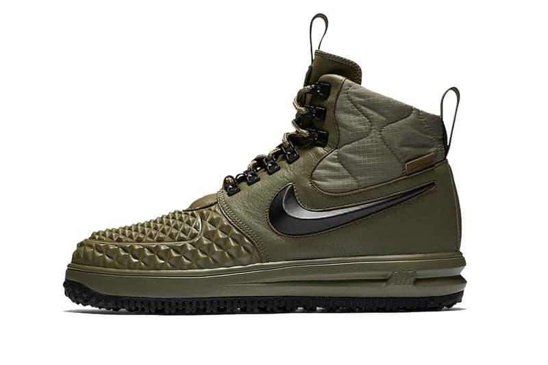 Nike Lunar Force 1 Duckboot black olive footwear 2017 winter fall boot sneaker sneakerboot