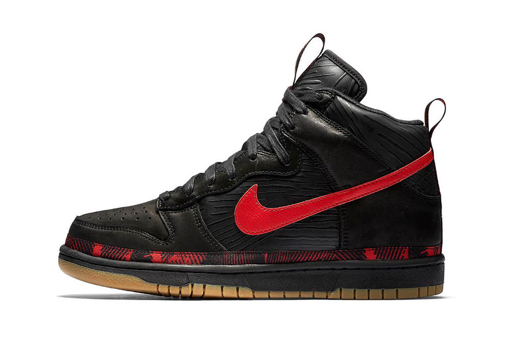 Nike Dunk High N7 footwear black red gum leather 2017 Fall Release Sneakers Shoes