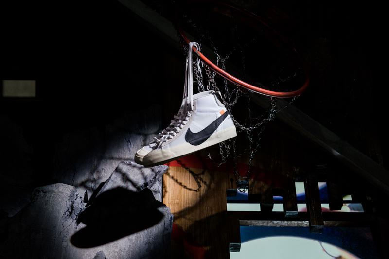Nike OFF CAMPUS Day 1 Virgil Abloh The Ten Air Jordan 1 Air Max 90 Air Force 1 Air Vapormax Air Presto Blazer React Hyperdunk 2017 Zoom Vaporfly Chuck Taylor Air Max 97