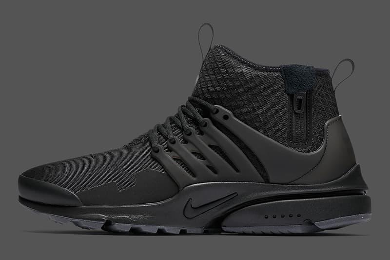 online retailer 1e3d8 dc88e Nike Air Presto Mid Utility Triple Black