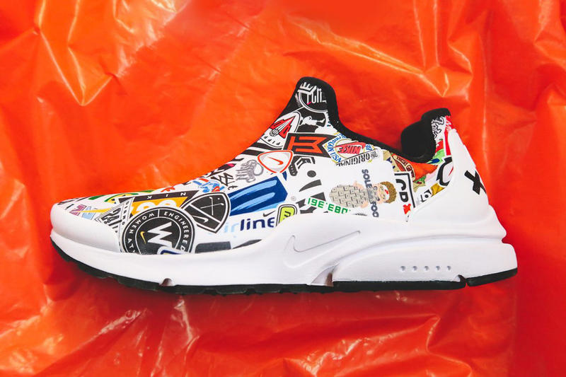 Nike Presto X Mark Smith Legacy Nike logos footwear VP vice president of Innovation & and Special Projects white black orange