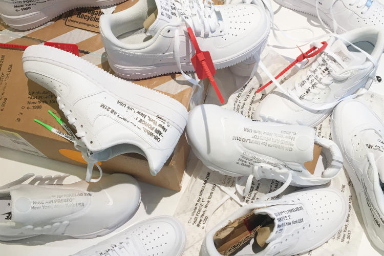 Virgil Abloh EXTRA CREDIT OFF CAMPUS THE TEN TEN ICONS RECONSTRUCTED Custom Sneakers Customization NikeLab 21M Nike Air Force 1 Air Max 90 Air Presto