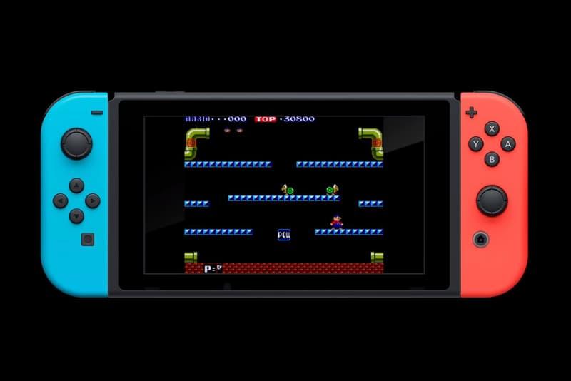 Nintendo Switch NES Nintendo Entertainment System VS System Mario Bros Arcade Games Titles Ice Climber Punch Out Super Mario Bros Pinball Balloon Fight Clu Clu Land