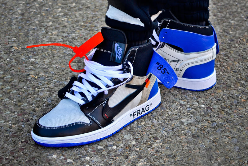 size 40 215ba 99150 Off-White™ x fragment design Air Jordan 1 Custom | HYPEBEAST