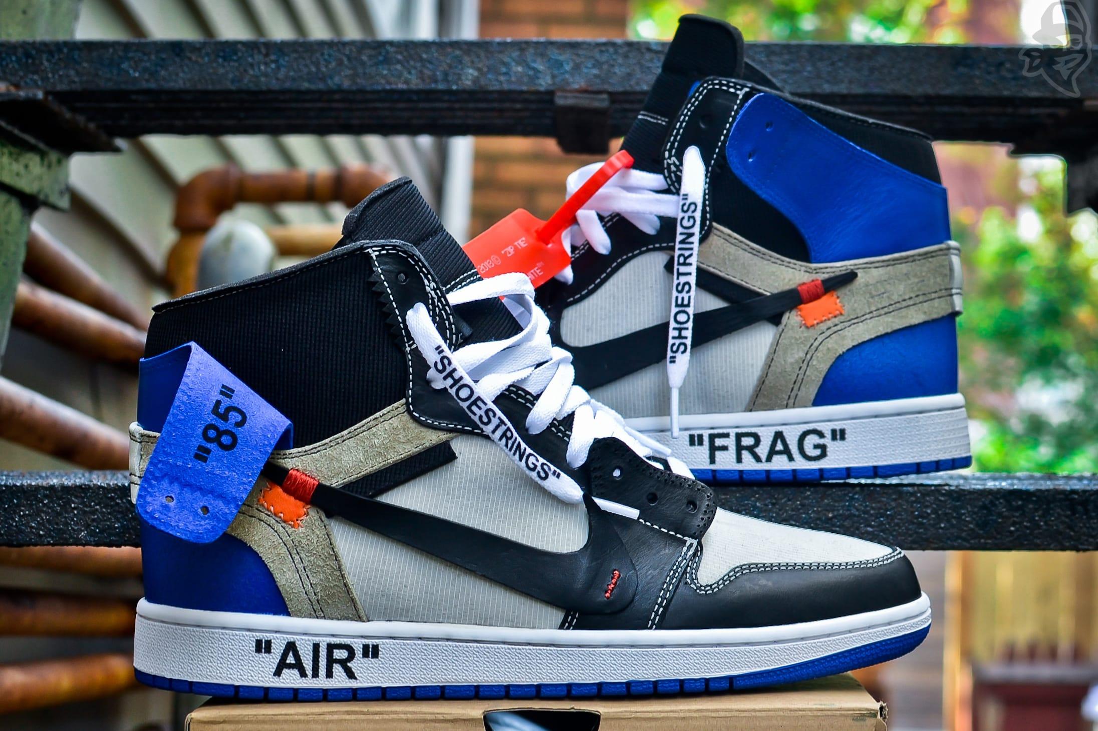 x fragment design Air Jordan 1 Custom