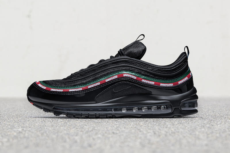 Official Look Release Date UNDEFEATED Nike Air Max 97 footwear black red green white