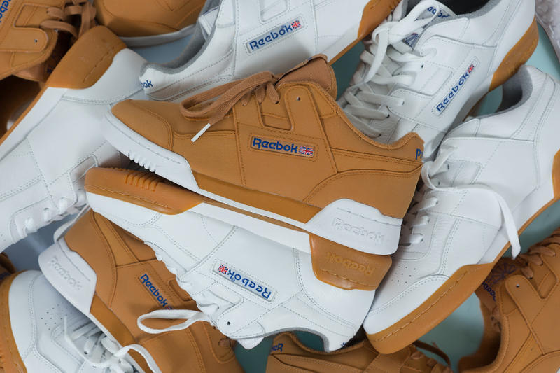 Packer Shoes Reebok Workout Lo Reverse Gum Gum White