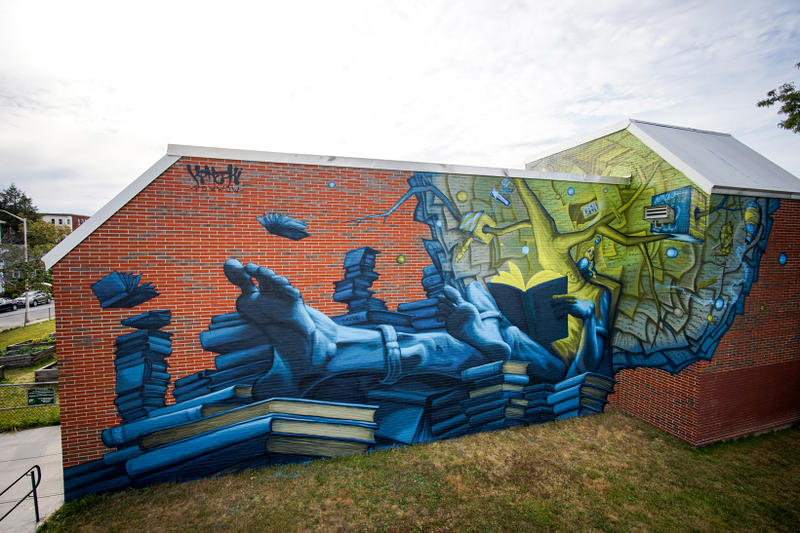 POW WOW Worcester Street Art Mural Artwork Paintings Nosego Caratoes APEXER Denial Pichiavo Nicky Davis