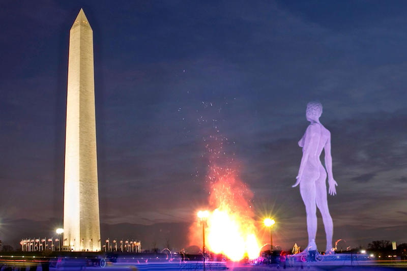 Catharsis on the Mall Marco Cochrane Washington DC Burning Man Sculpture Artwork Art R-Evolution