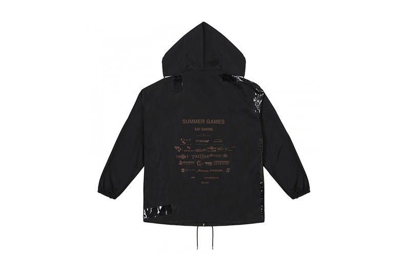 Raf Simons Dover Street Market Exclusive Windbreaker Button Up Down Shirt Tape Walk With Me Black