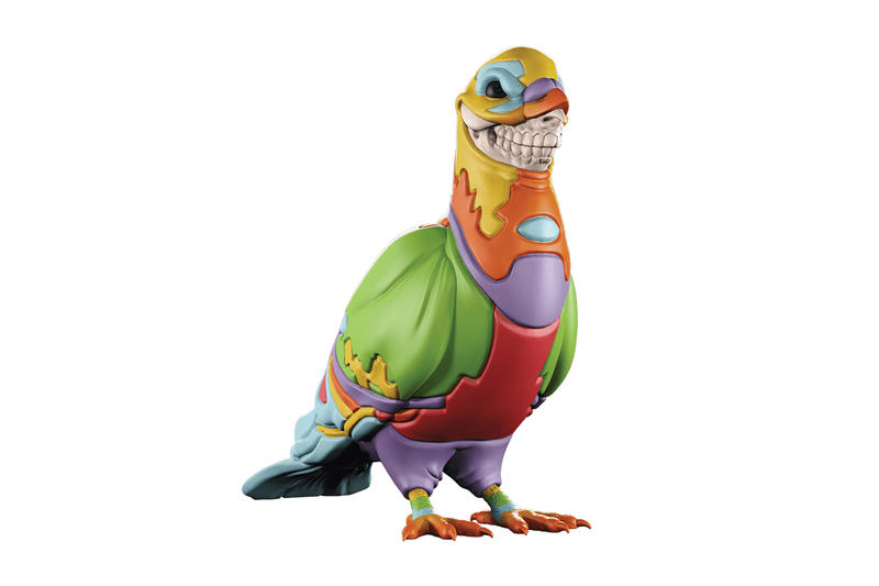Ron English Jeff Staple Mighty Jaxx Pigeon Skull Grin
