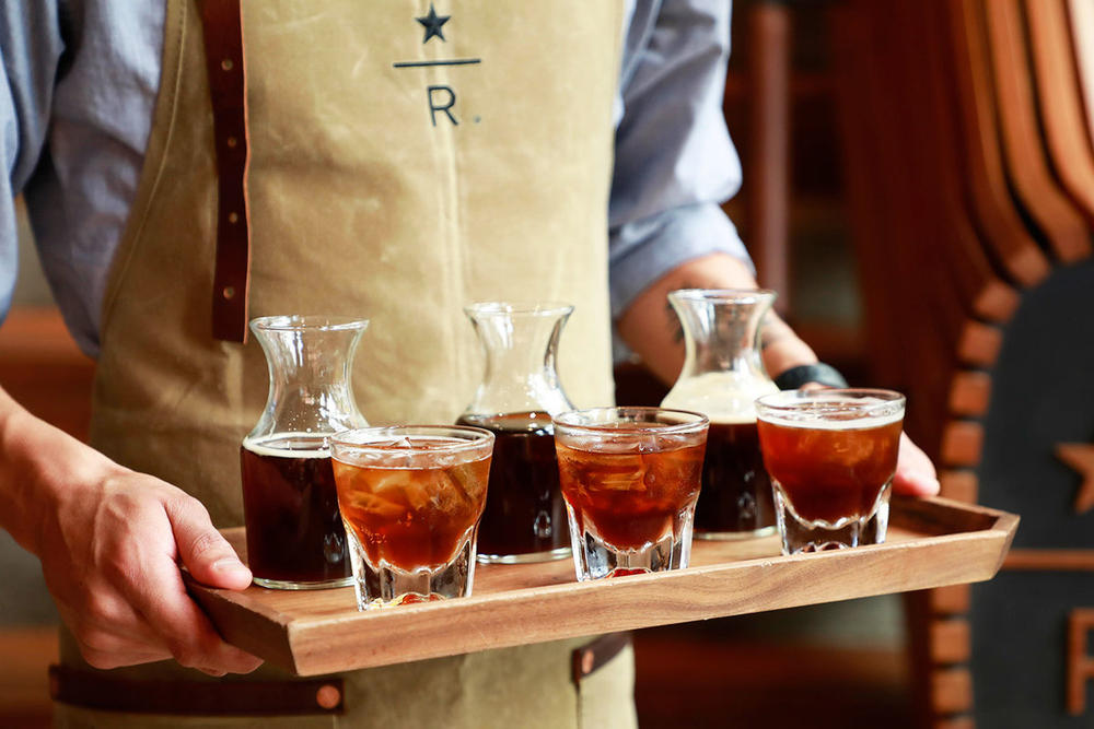 Starbucks Cold Pressed Espresso Shot First Ever Seattle Reserve Roastery