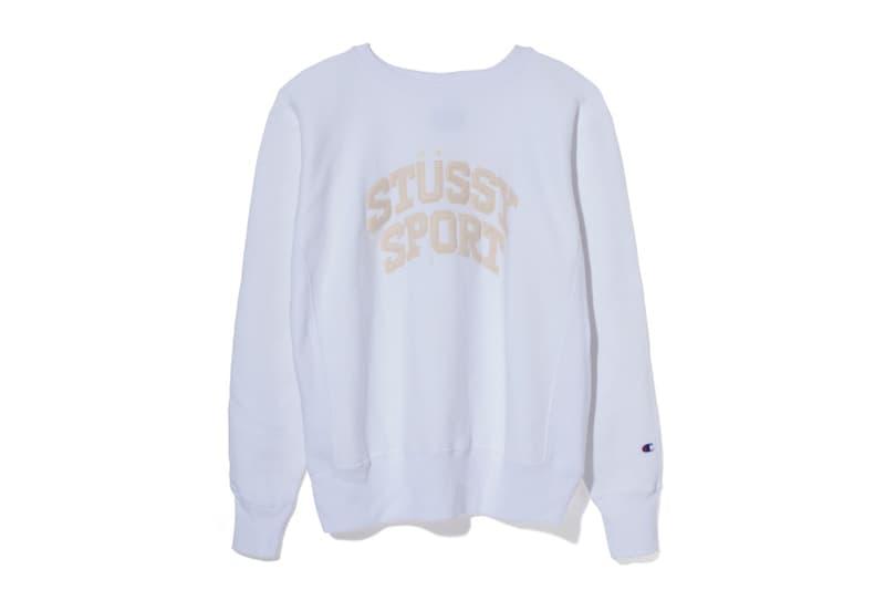 Stüssy Japan Champion Apparel Fashion Sportswear Release Info Drops Date