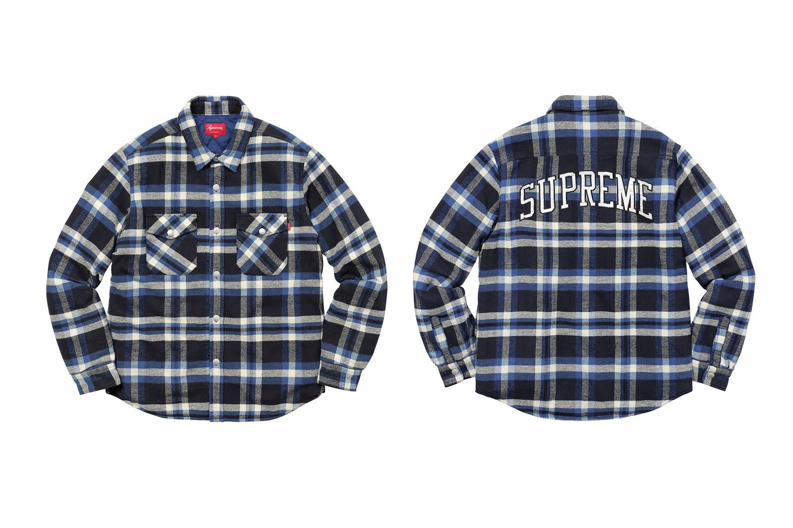 Supreme 2017 Fall Winter Drop