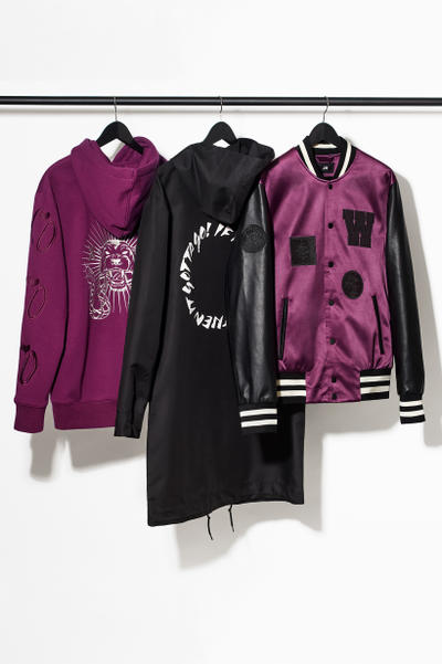 H&M Presents The Weeknd Collection rack of outerwear