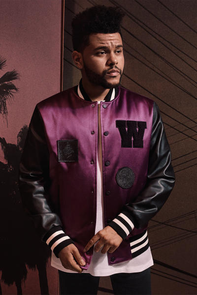 H&M Presents The Weeknd Collection varsity jacket