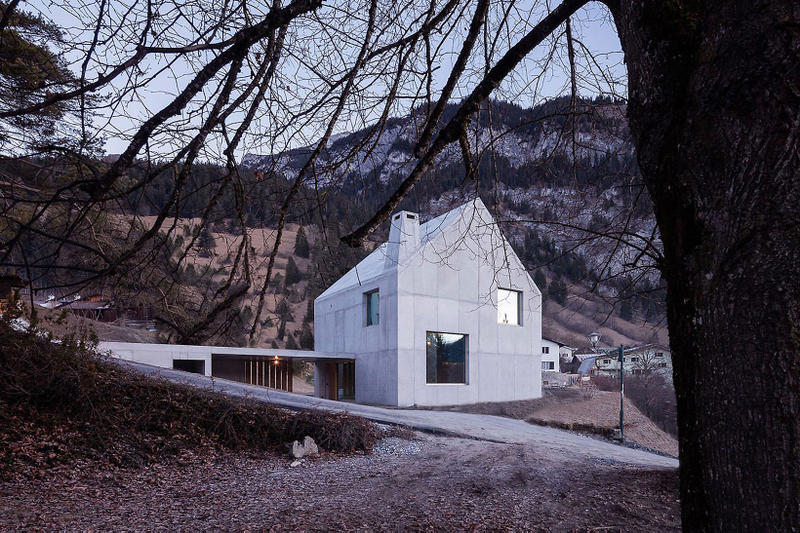Trin Cabin Schneller Caminada Architects Switzerland homes houses home house mountains mountain wood concrete
