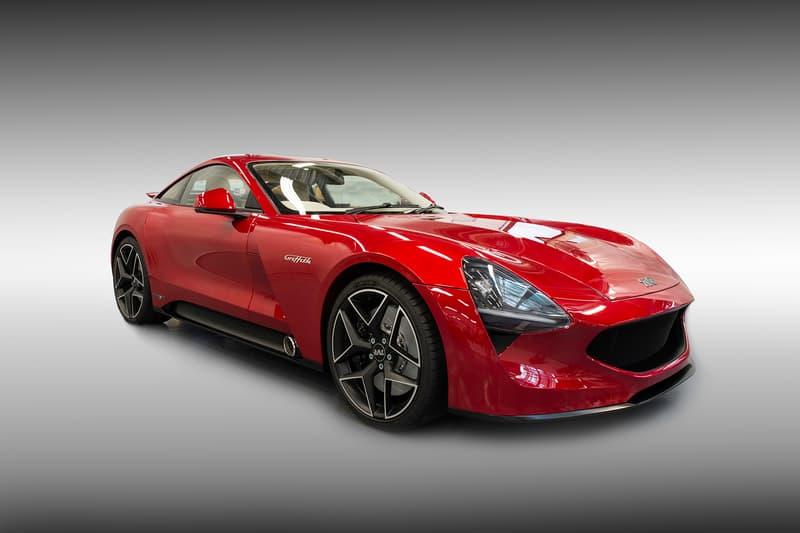 TVR Grifith Sports Car Red Exterior Interior