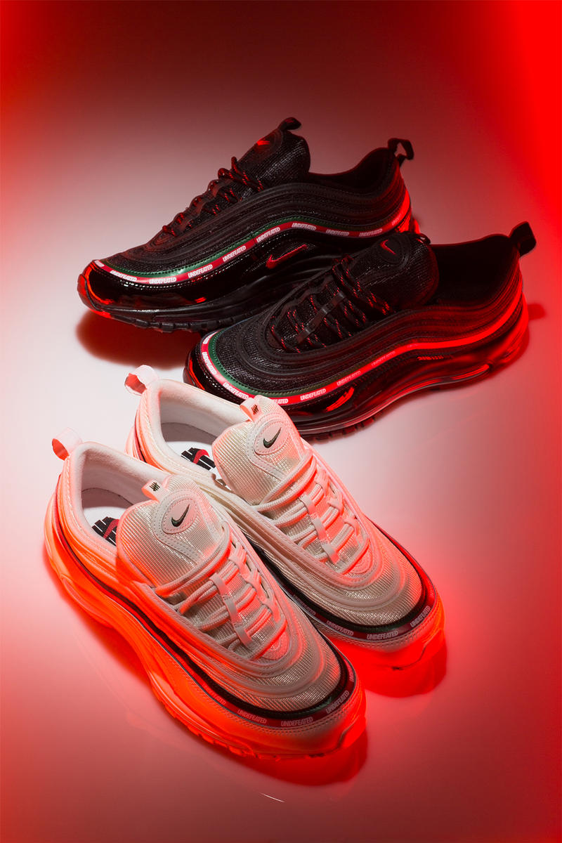 UNDEFEATED Nike Air Max 97 Matching Apparel Hoodie Sweatshirt T Shirt Tee Bag Socks 2017 September 15 Release Date Info Sneakers Shoes Footwear gucci red green white black