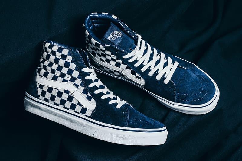 Vans Japan Indigo Checkerboard Pack Sk8 Hi Classic Slip On Old Skool INVINCIBLE Sneakers Shoes Footwear 2017 September 23 Release Date Info