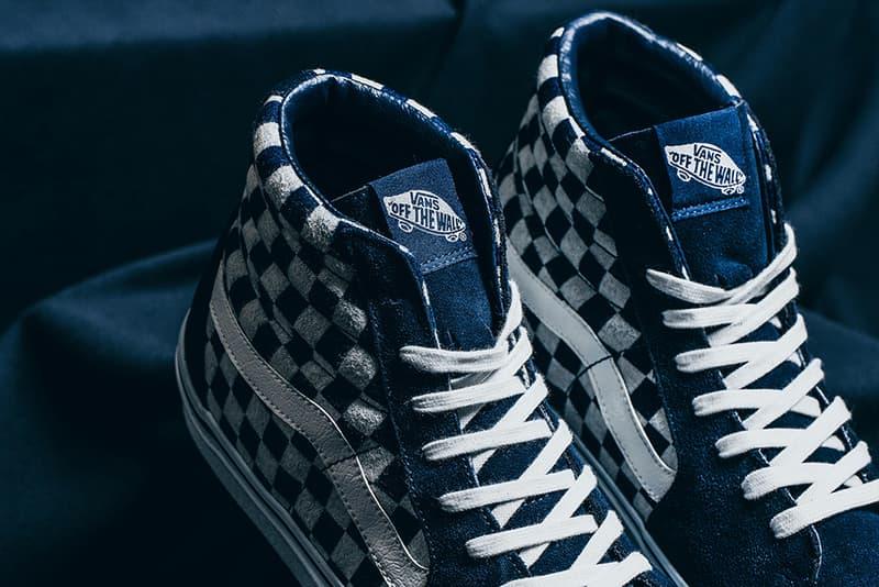 bfdec3edd9 Vans Japan Indigo Checkerboard Pack Sk8 Hi Classic Slip On Old Skool  INVINCIBLE Sneakers Shoes Footwear