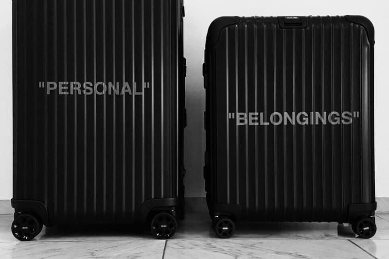 Virgil Abloh Off-White Rimowa Alexandre Arnault Black Topas Multi-Wheel Collaboration