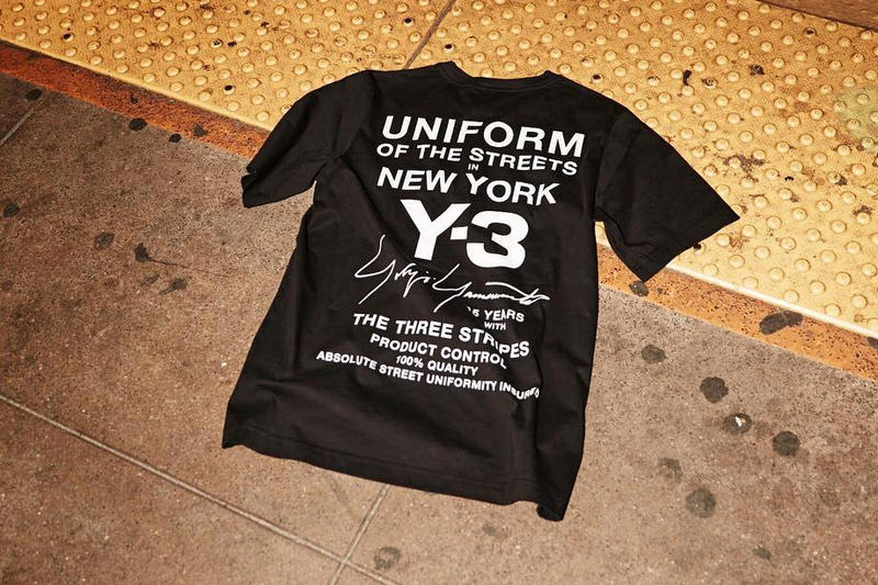 Y3 y-3 New York UniformOfTheStreets Limited Edition T Shirt Tee NYFW Fashion Week adidas Yohji Yamamoto