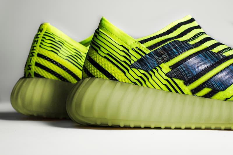 adidas Nemeziz 17 YEEZY BOOST 350 The Shoe Surgeon Custom Sneakers Soccer Kanye West Semi Frozen Yellow