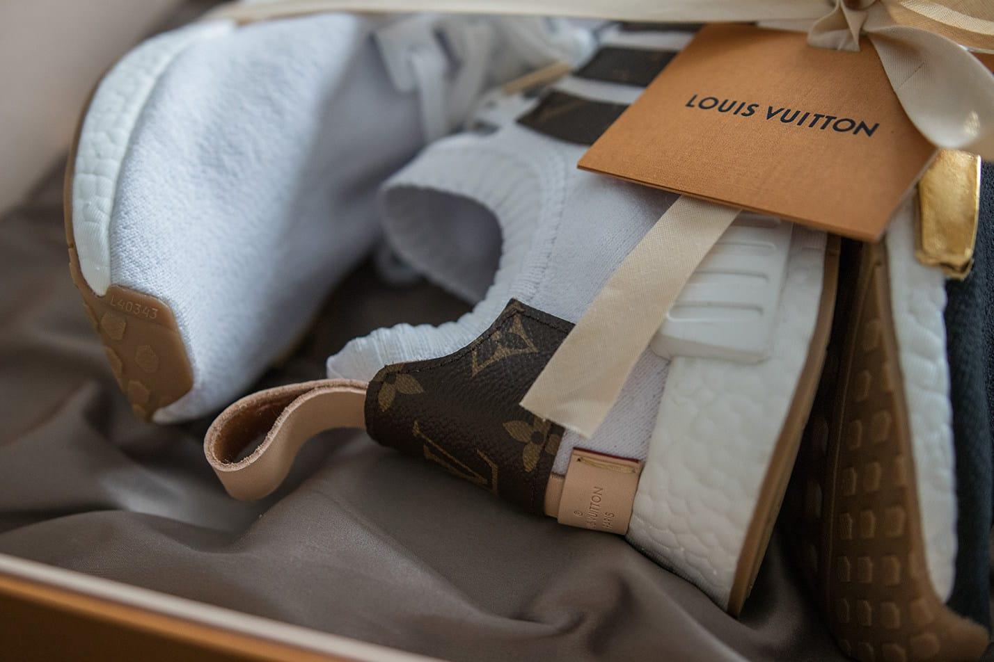 Custom Louis Vuitton x adidas NMDs