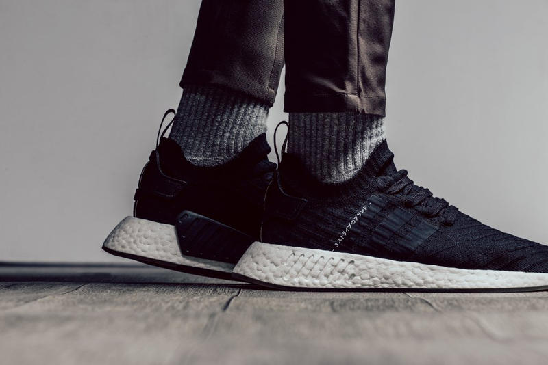 adidas originals NMD R2 Japan Black white primeknit 2017 October Release Date Info Sneakers Shoes Footwear Feature