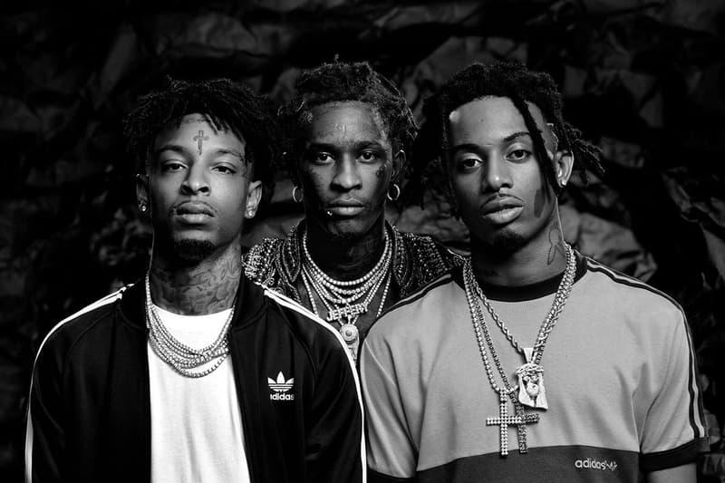 adidas Originals 21 Savage Young Thug Playboi Carti  Faces of Crazy campaign