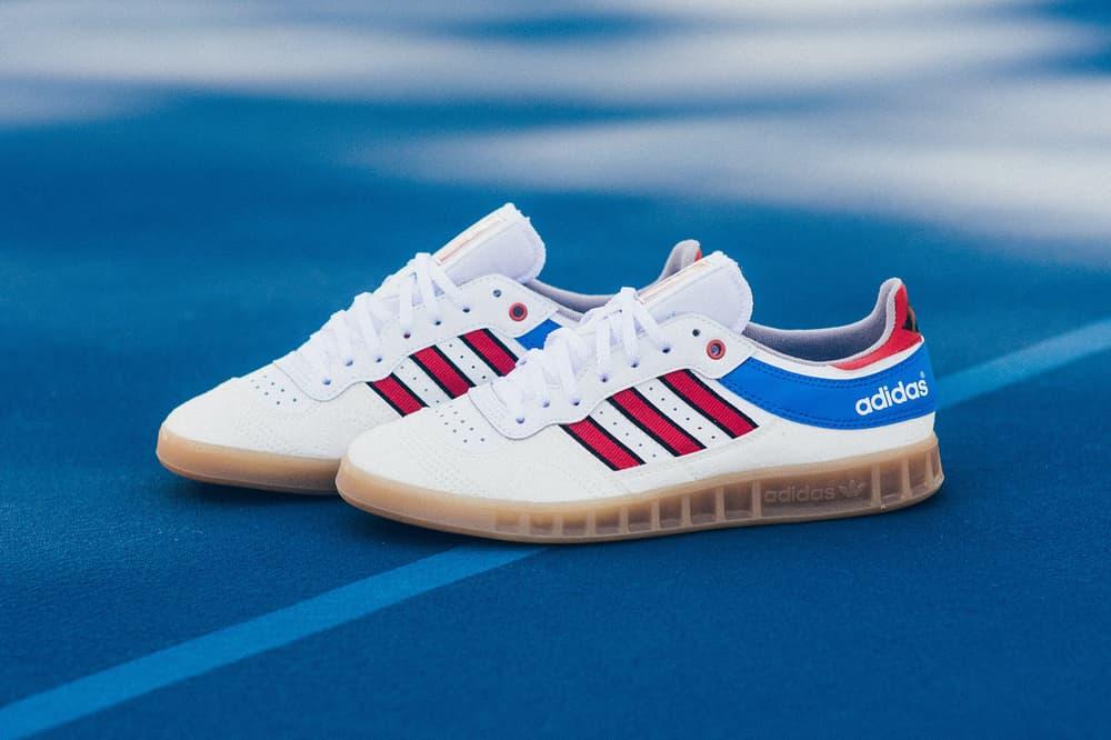 adidas Originals Handball Top White Red Blue Gum OG 2017 October 27 Release Date Info Sneakers Shoes Footwear