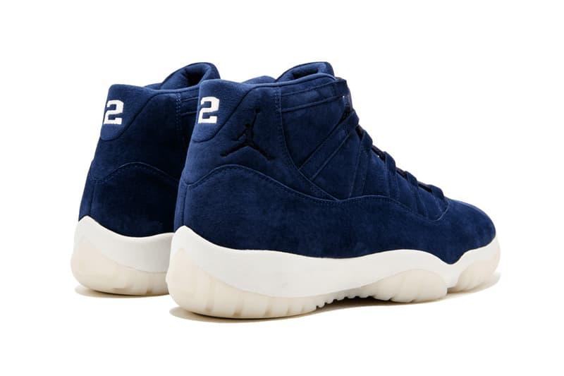 Air Jordan 11 Derek Jeter footwear blue white stadium goods new york yankees suede nubuck 2 40000 resell price white sole upper