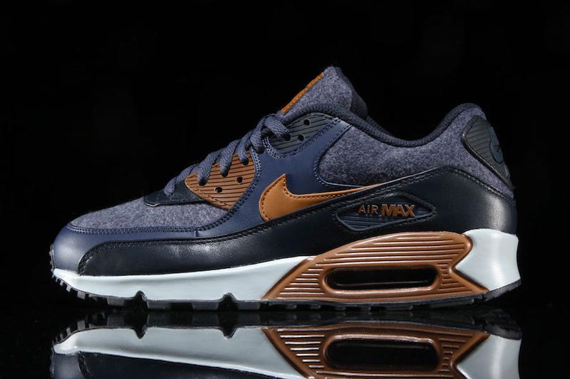 Nike Air Max 90 Premium Fall Winter 2017 Thunder Blue Wool