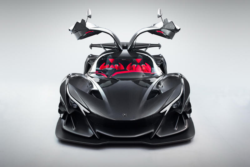 Apollo Intensa Emozione Hypercar Supercar car vehicle black carbon fiber