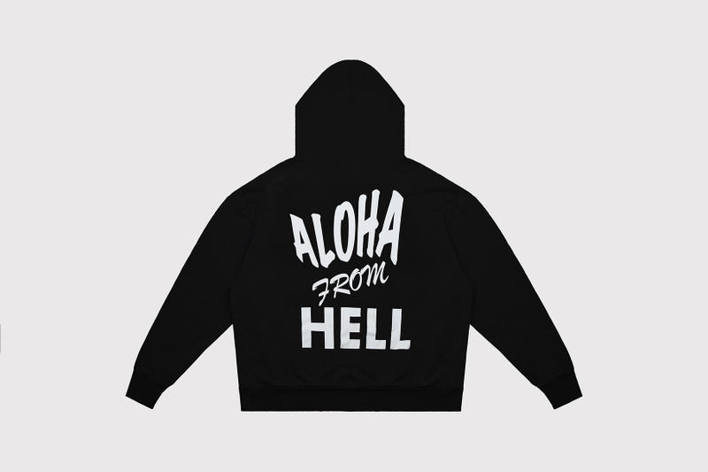 """Aries Fergus Purcell Hoodies Long Sleeves """"Aloha From Hell"""""""