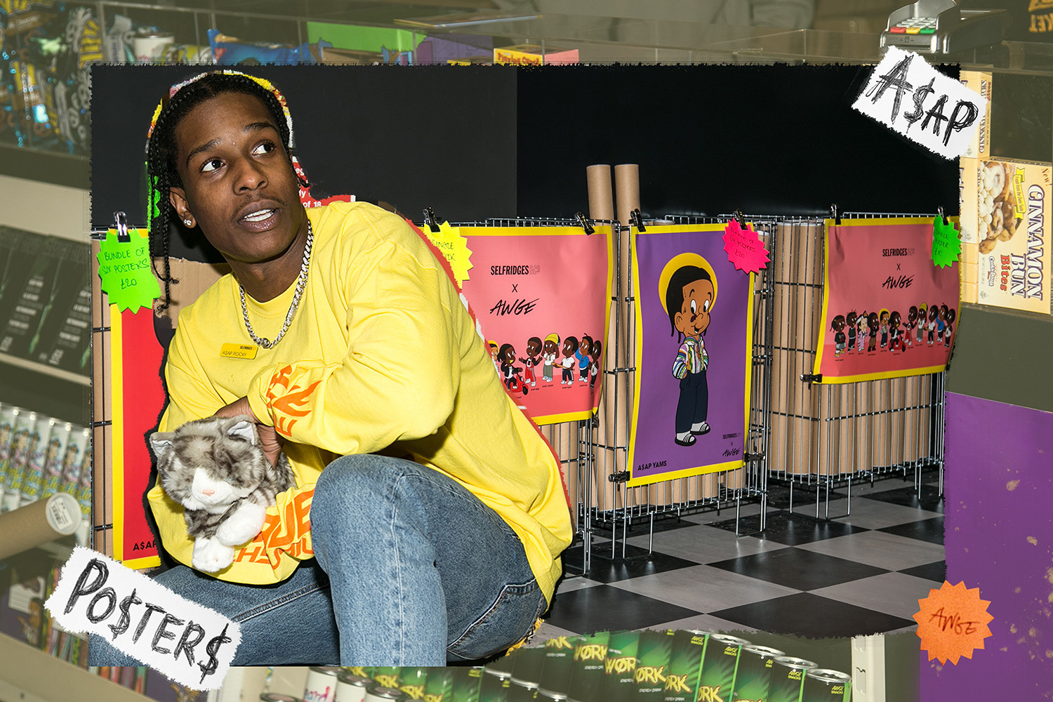 A$AP Rocky AWGE Selfridges London Bodega A$AP Mob ASAP GUE$$